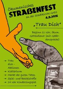 Ökumenisches Straßenfest Plakat2016
